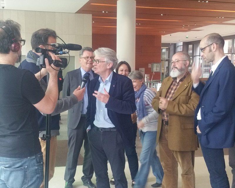Lancement de la campagne électorale ARS : visite de Jean-Claude Mailly à l'ARS IDF