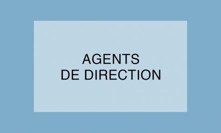 Les « Agents de direction » seront présents à la journée de l'encadrement du 11 octobre