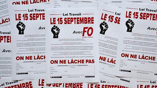 Loi Travail le 15 septembre avec FO on ne lâche pas