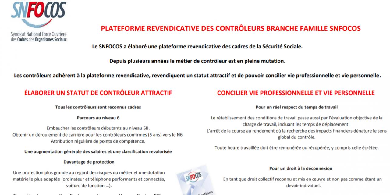 Métier de contrôleur Branche Famille : une position nationale portée par le SNFOCOS